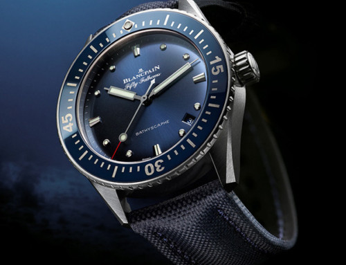 Blancpain: The Fifty Fathoms Bathyscaphe 38mm in Abyss Blue